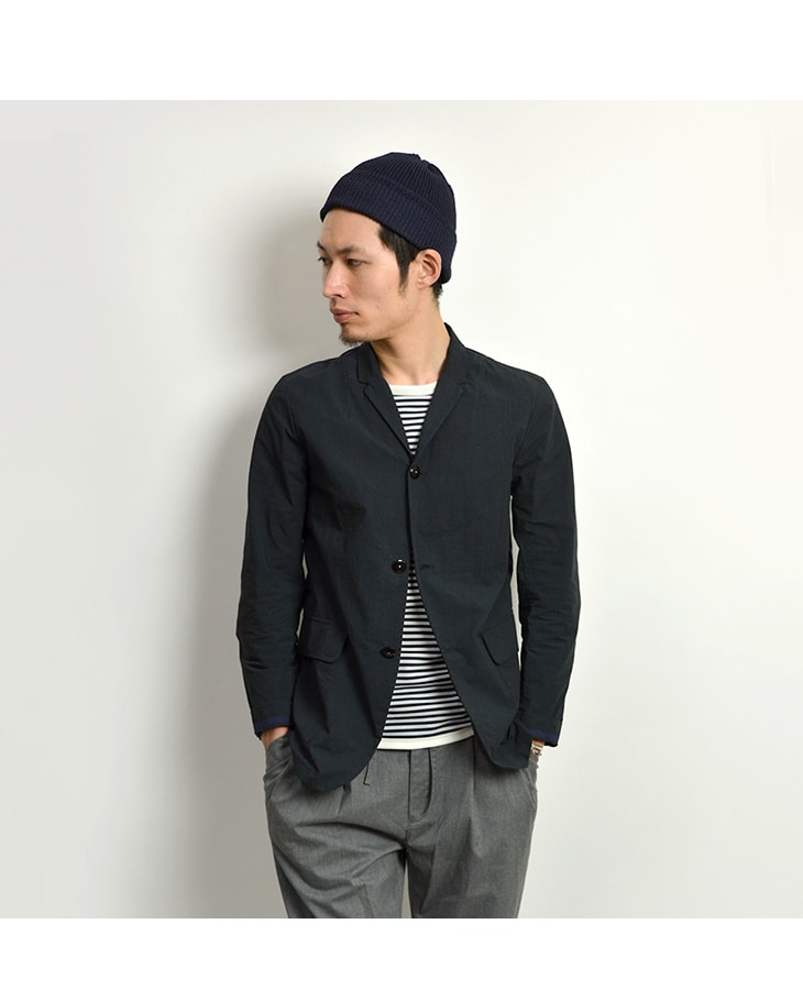 RE MADE IN TOKYO JAPAN(アールイー) コットンナイロン ワッシャー カバーオール ジャケット / テーラードジャケット / メンズ / 日本製