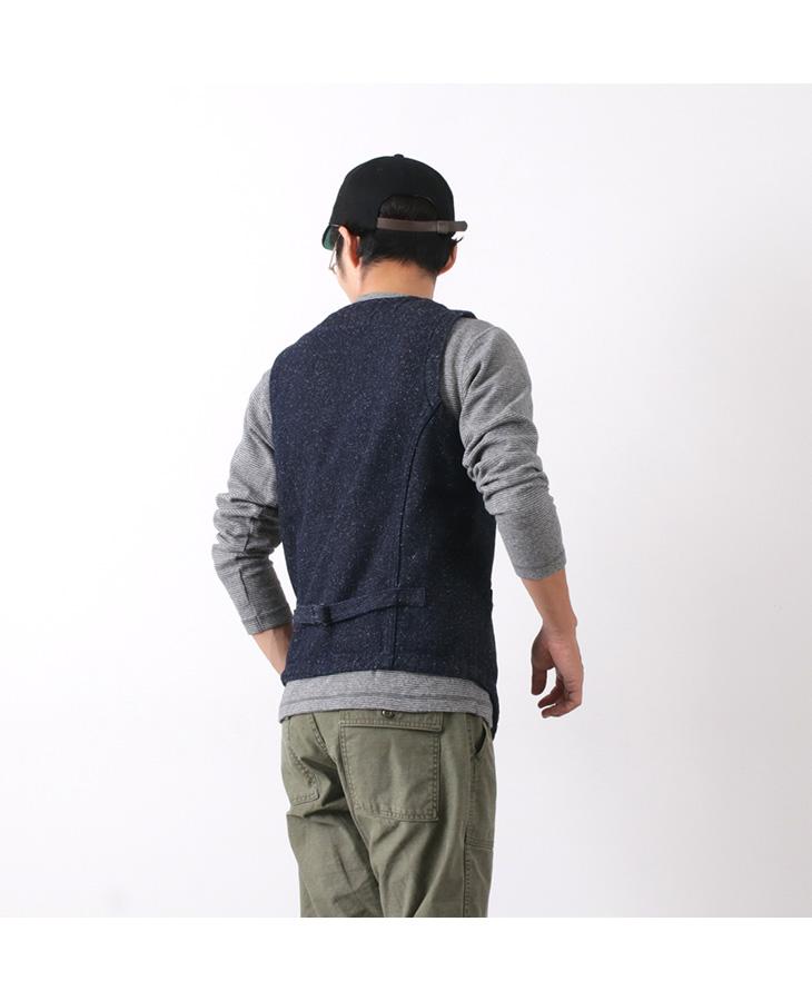【期間限定!クーポンで10%OFF】JAPAN BLUE JEANS(ジャパンブルージーンズ) J427341 デニム ツイード アーバン ベスト / メンズ / インディゴ / 日本製 / DENIM TWEED URBAN VEST