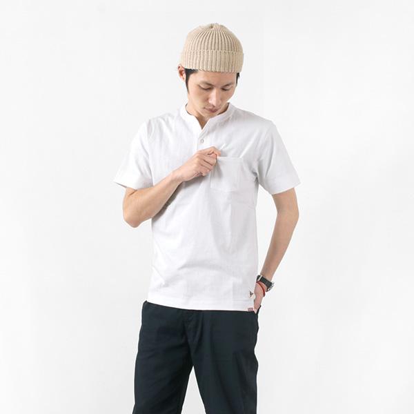 FELCO × HEALTH KNIT(フェルコ × ヘルスニット) ポケット ヘンリーネック Tシャツ / アメリカ コットン / メンズ / POCKET HENLY NECK T-SHIRT