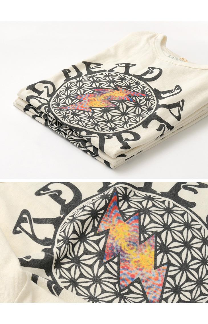 GOHEMP(ゴーヘンプ) 麻柄 ボルト Tシャツ / ヘンプ / オーガニックコットン ジャージー ベーシック クルーネック Tシャツ / メンズ / 半袖 / GHC4200DD118 / ASAGARA BOLT TEE