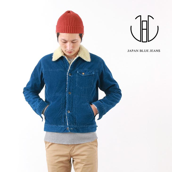 【30%OFF】JAPAN BLUE JEANS(ジャパンブルージーンズ) J6825OZ01 インディゴ ボア ジャケット / コーデュロイ / メンズ / 日本製 / INDIGO BOA JK【セール】