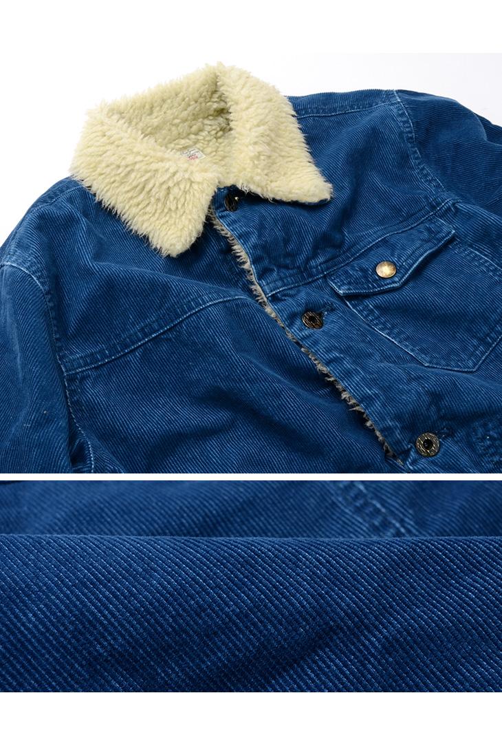 【50%OFF】JAPAN BLUE JEANS(ジャパンブルージーンズ) J6825OZ01 インディゴ ボア ジャケット / コーデュロイ / メンズ / 日本製 / INDIGO BOA JK【セール】
