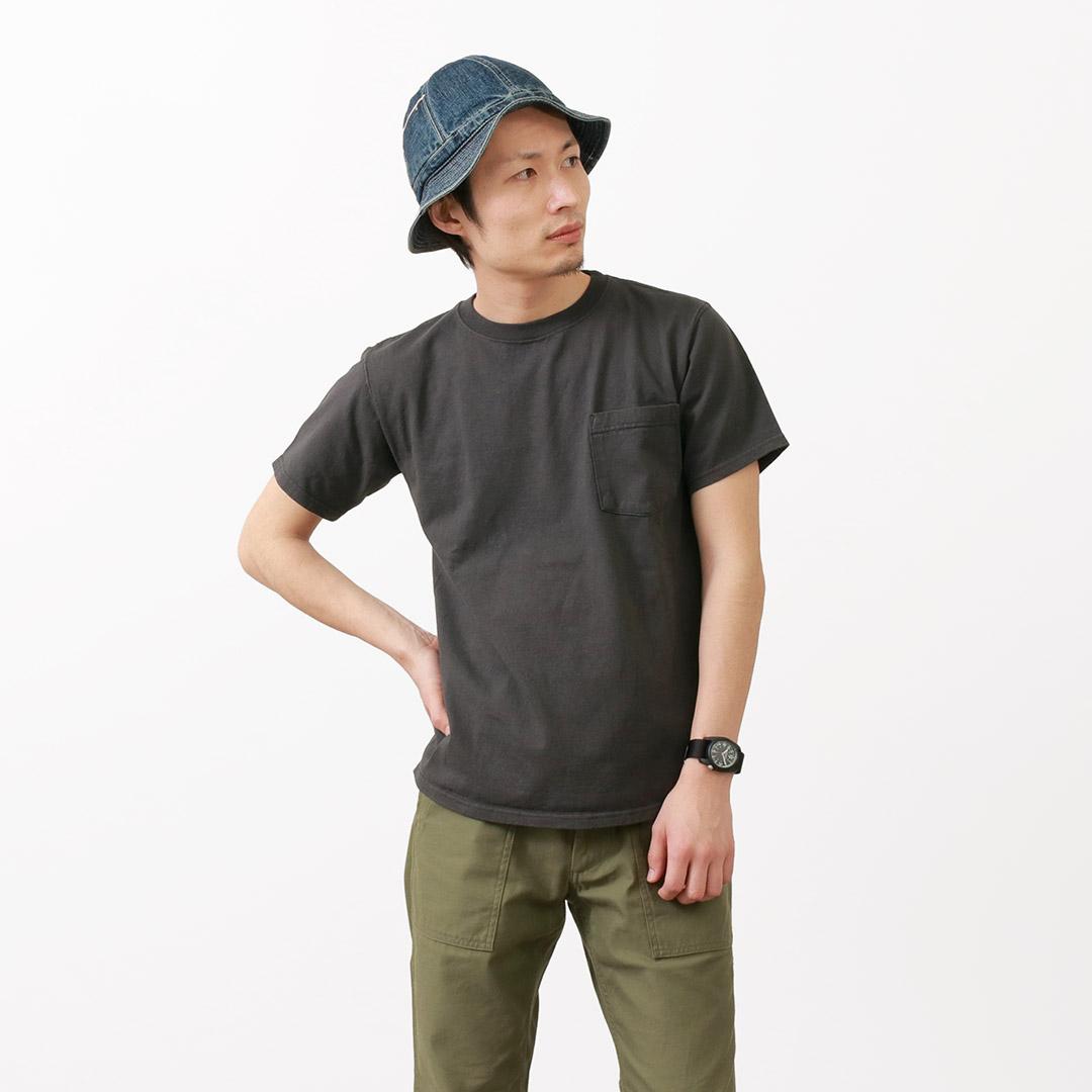 GOODWEAR(グッドウェア) ポケット Tシャツ 半袖 / クルーネック / 無地 / ヘビーオンス 厚手 / メンズ / アメリカ製