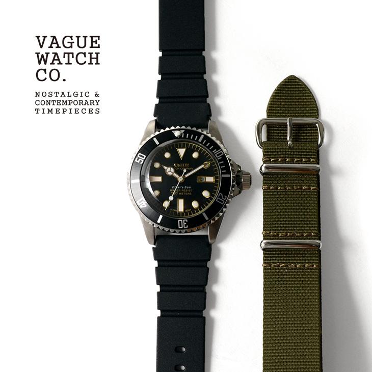 VAGUE WATCH Co.(ヴァーグウォッチ) ダイバーズサン / メンズ / レディース / ストラップ2色 / ダイバーズウォッチ / 100m防水 / 10気圧防水 / DIVER'S SON / NO.DS-L-001