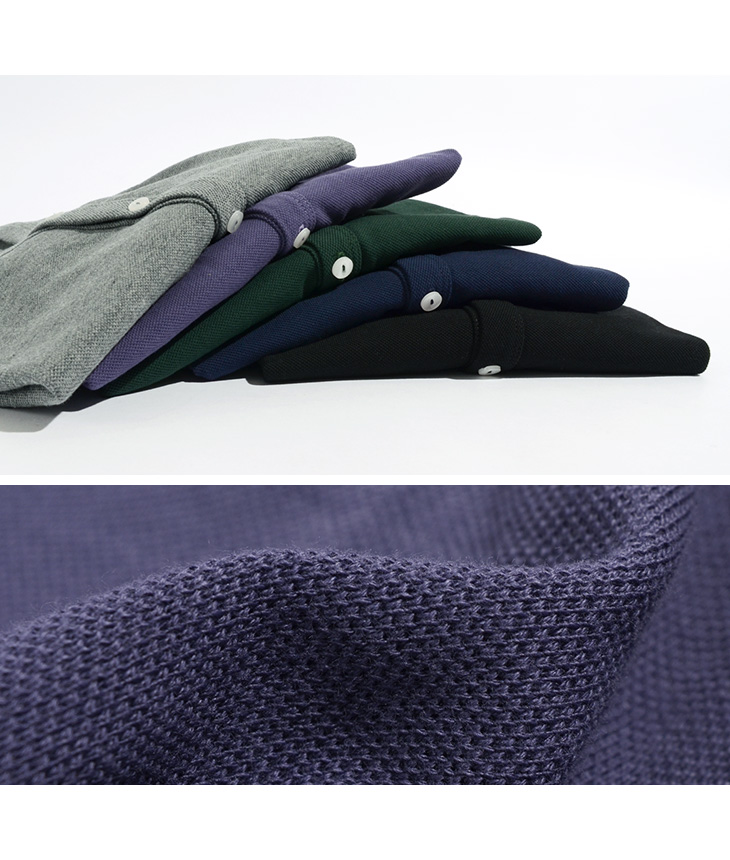 ROCOCO(ロココ) ピケ 鹿の子 コットン カーディガン / メンズ / フランス製 / 羽織り / コットン