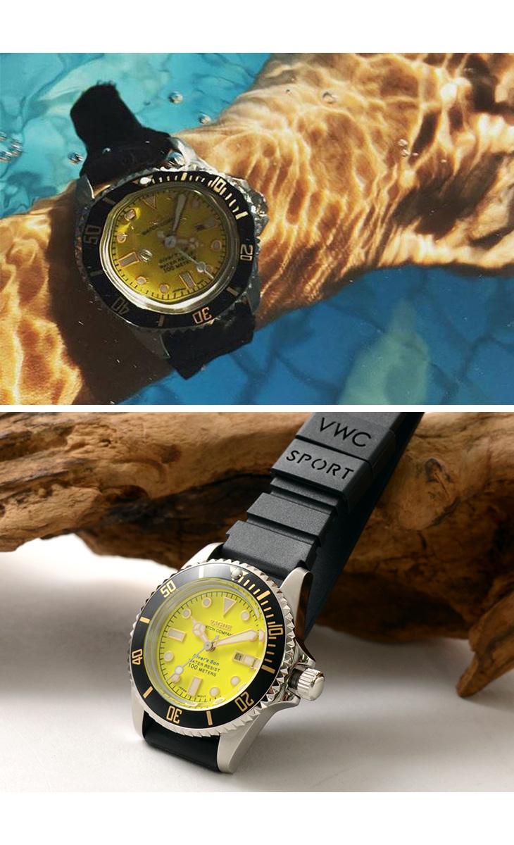 VAGUE WATCH Co.(ヴァーグウォッチ) ダイバーズサン / メンズ / レディース / ストラップ2色 / ダイバーズウォッチ / 100m防水 / 10気圧防水 / DIVER'S SON / NO.DS-L-002