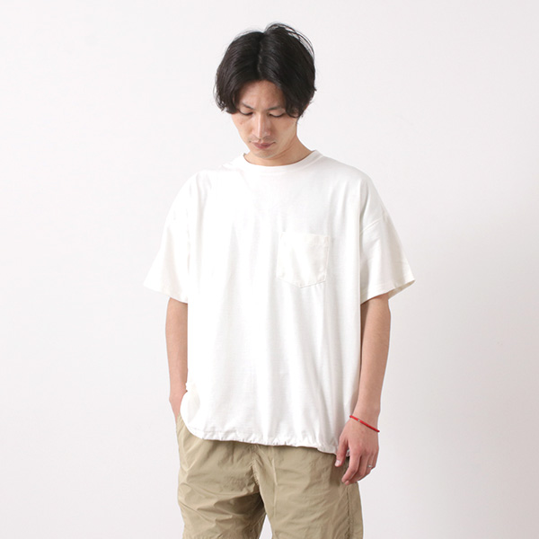REMI RELIEF(レミレリーフ) エステル 麻 天竺 ポケット Tシャツ / メンズ / 半袖 無地 / 日本製