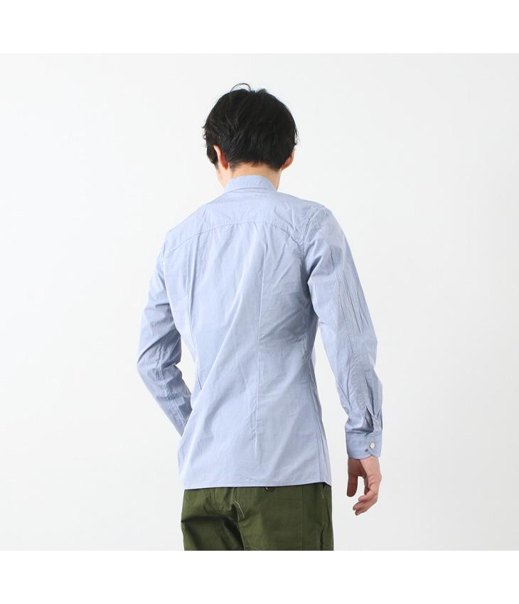 RE MADE IN TOKYO JAPAN(アールイー) 別注 スーピマタイプライター ラウンド ヘムシャツ / コットン / 長袖 / メンズ / 日本製