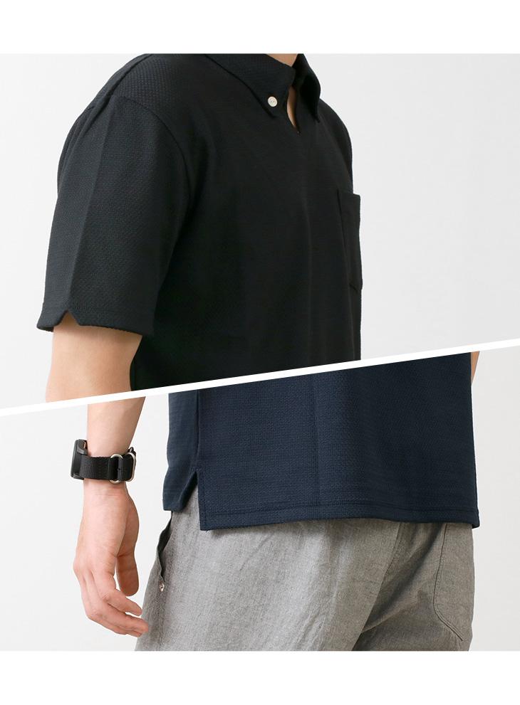 RE MADE IN TOKYO JAPAN(アールイー) クールマックス リンクス BD スキッパー / ポロシャツ / 半袖 / メンズ / 無地 / 日本製 / 9718S-CT / COOL MAX LINKS BD SKIPPER
