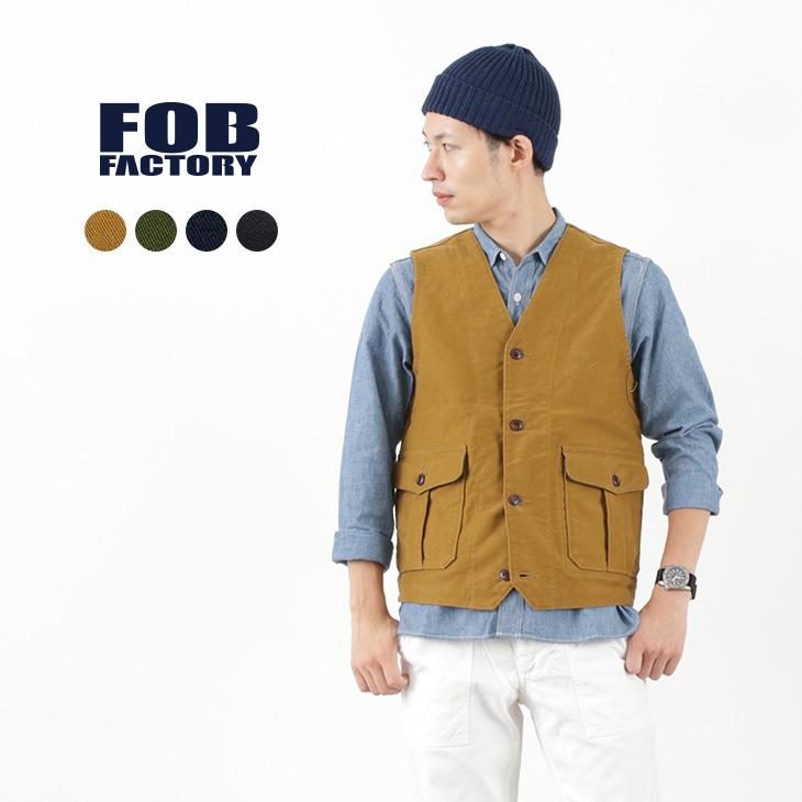 FOB FACTORY(FOBファクトリー) F2388 ハンティング ベスト / メンズ / ヘビーモールスキン / 日本製 / HUNTING VEST