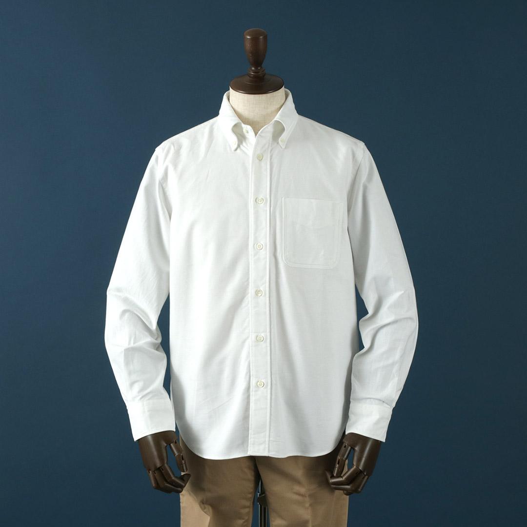 ROCOCO(ロココ) アメリカンオックス クラシック ボタンダウンシャツ / アメリカンフィット / メンズ / 長袖 無地 / 日本製 / US OXFORD B.D SHIRT / クールビズ