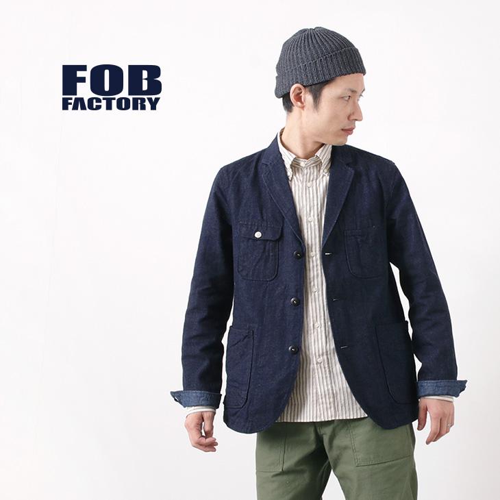 FOB FACTORY(FOBファクトリー) F2398 エンジニア デニム ジャケット / ワンウォッシュ / セルヴィッチ / メンズ / 日本製 / ENGINEER DENIM JK