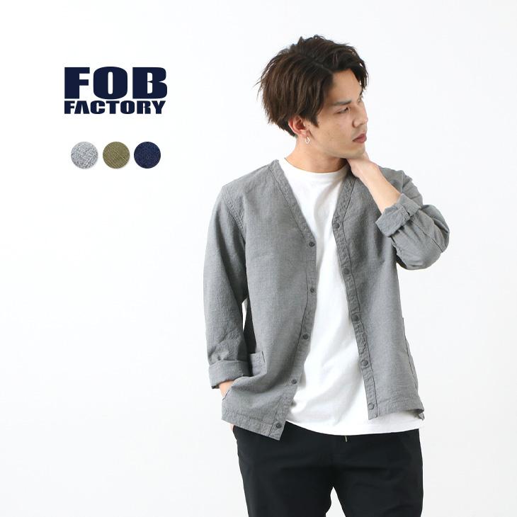FOB FACTORY(FOBファクトリー) F2409 ミリタリー カーディガン / メンズ / スレン / リップストップ / 日本製
