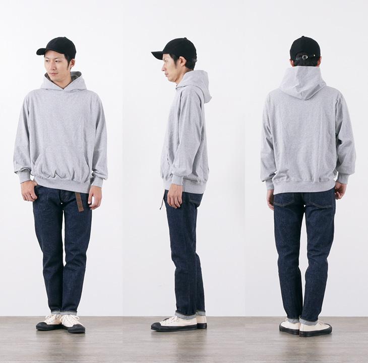GOODWEAR(グッドウェア) プルオーバー フード Tシャツ ロングスリーブ / プルパーカー / メンズ / アメリカ製 / L/S PULLOVER HOOD TEE