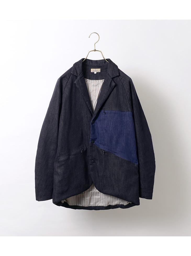 JAPAN BLUE JEANS(ジャパンブルージーンズ) J414921 シン・デニム サイクル テーラードジャケット / メンズ / 日本製 / ストレッチ / 中綿 / SHIN-DENIM CYCLE TAILORED JKT