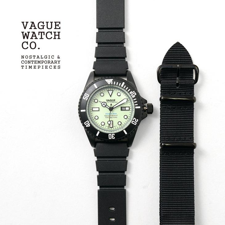 【期間限定!クーポンで10%OFF】VAGUE WATCH Co.(ヴァーグウォッチ) ダイバーズサン / メンズ / レディース / ストラップ2色 / ダイバーズウォッチ / 100m防水 / 10気圧防水 / DIVER'S SON / NO.DS-L-003