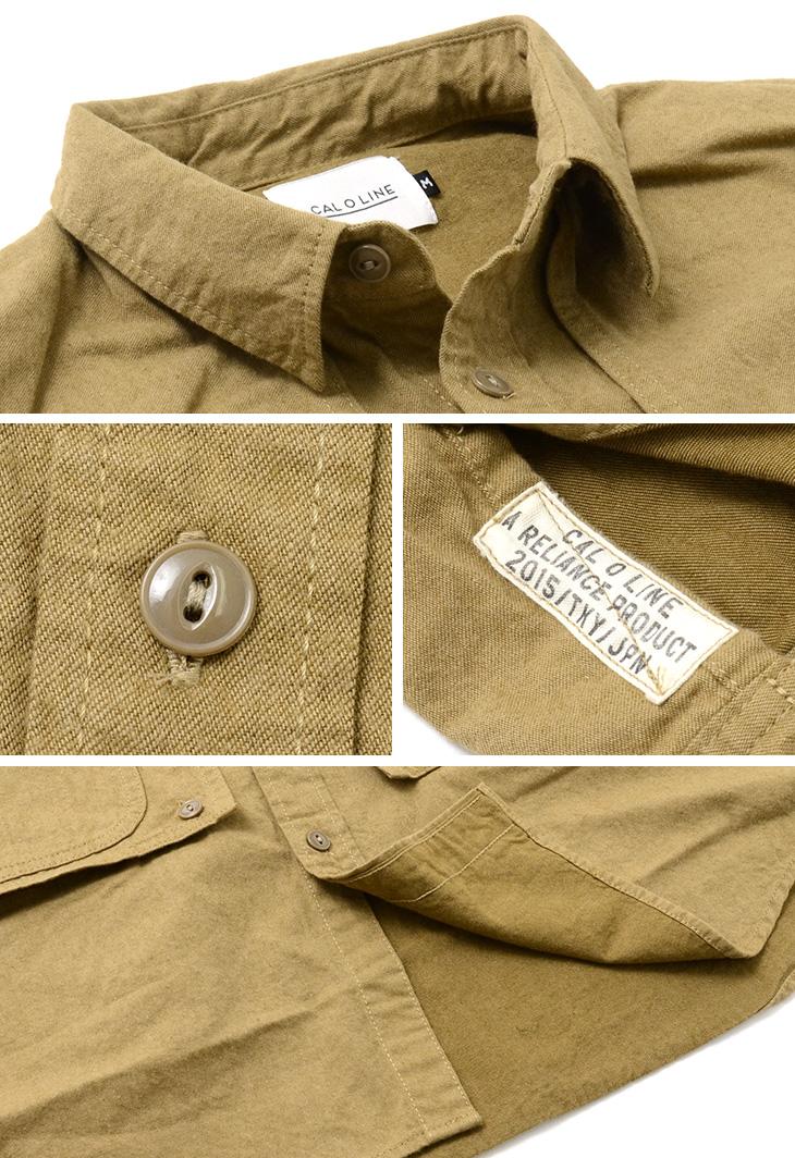 【50%OFF】CAL O LINE(キャルオーライン) ワーカーズ ペインターシャツ / メンズ / コットン ネル / ネルシャツ / 日本製 / PAINTER SHIRT【セール】