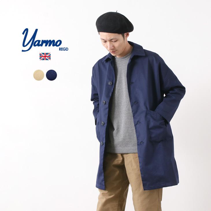 【30%OFF】YARMO(ヤーモ) ダスターコート / メンズ / コットン / ワークコート オーバーコート / イギリス製【セール】
