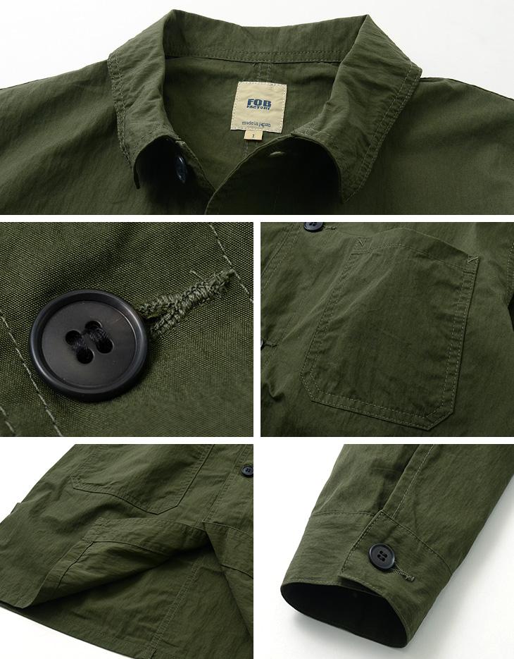 FOB FACTORY(FOBファクトリー) F2395 フレンチ シャツコート / スプリングコート / メンズ / 日本製 / FRENCH SHIRT COAT