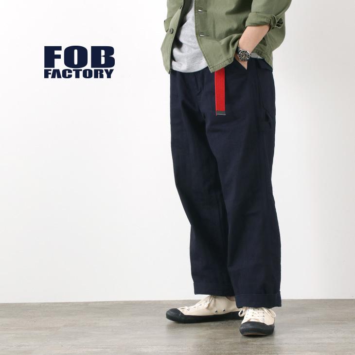 FOB FACTORY(FOBファクトリー) F0484 888 ペインターパンツ / デニム ワンウォッシュ / ワーク / ワイド / サンフォライズド加工 / メンズ / 日本製 / 888 PAINTER PANTS