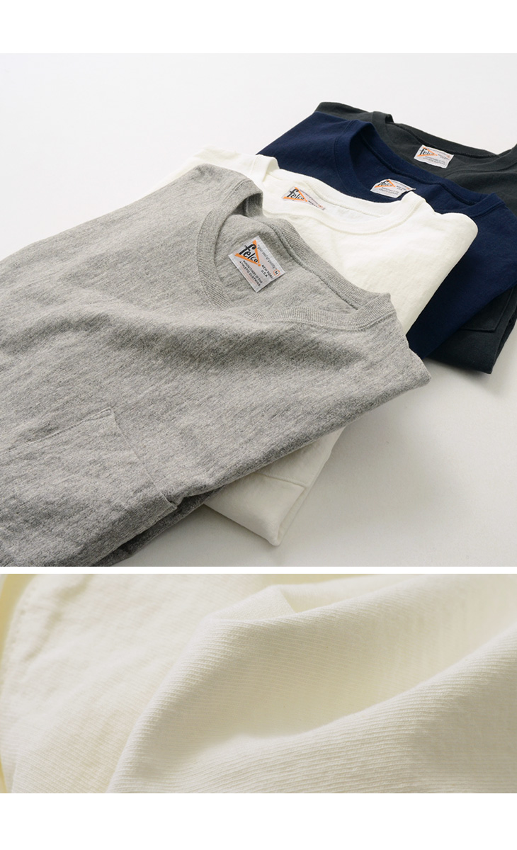 【30%OFF】FELCO(フェルコ) インバースウィーブ Tシャツ / 半袖 / 無地 / メンズ / 日本製 / S/S INVERSE WEAVE TEE【セール】