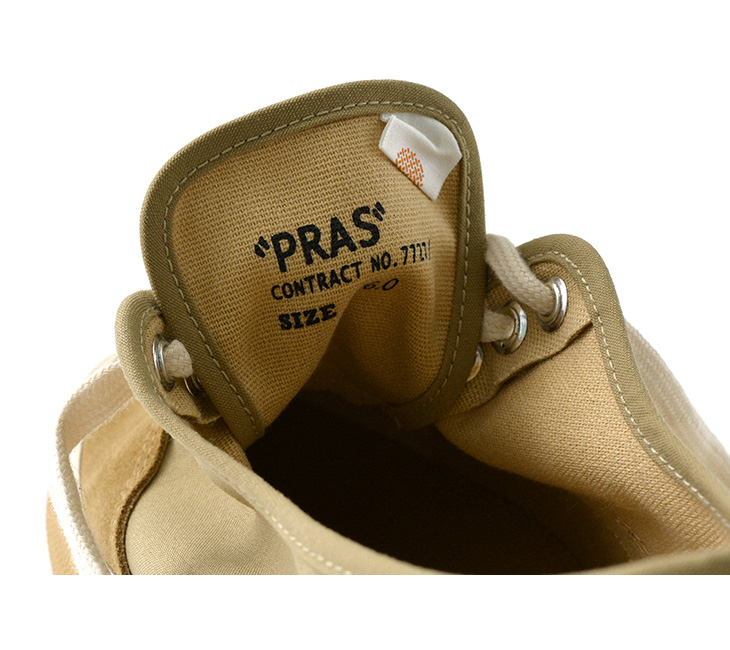 【期間限定!クーポンで10%OFF】PRAS(プラス) グリッドデッキ コンビ / メンズ / レディース / ユニセックス / スニーカー / 児島 帆布 / PRAS-GR01-COMBI