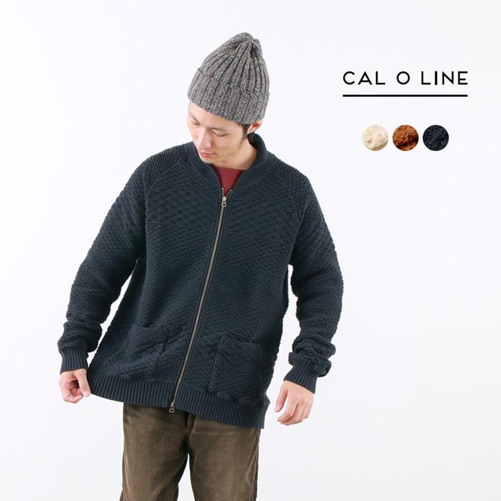 【60%OFF】CAL O LINE(キャルオーライン) ジャガード カウチン カーディガン / ニット / コットン / メンズ / 日本製 / JACQUARD COWICHAN CARDIGAN【セール】