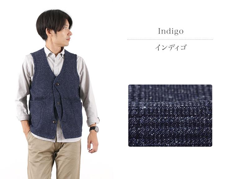 JAPAN BLUE JEANS(ジャパンブルージーンズ) J423525 デニム ツイード ハンティング ベスト / メンズ / ジレ / 日本製