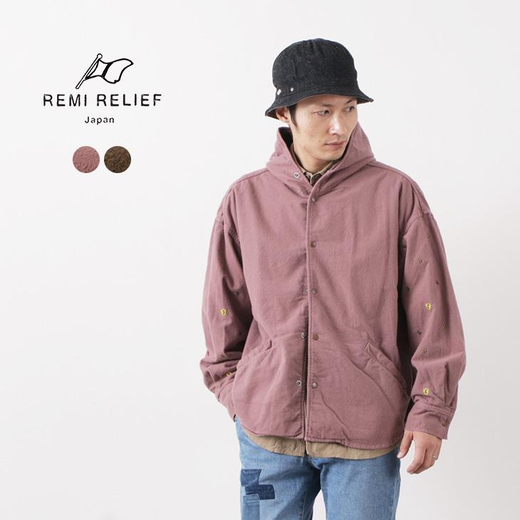 REMI RELIEF(レミレリーフ) 肉厚 コットン ネル ペイズリー 刺繍ワイド CPO / メンズ / シャツ / パーカー / 日本製