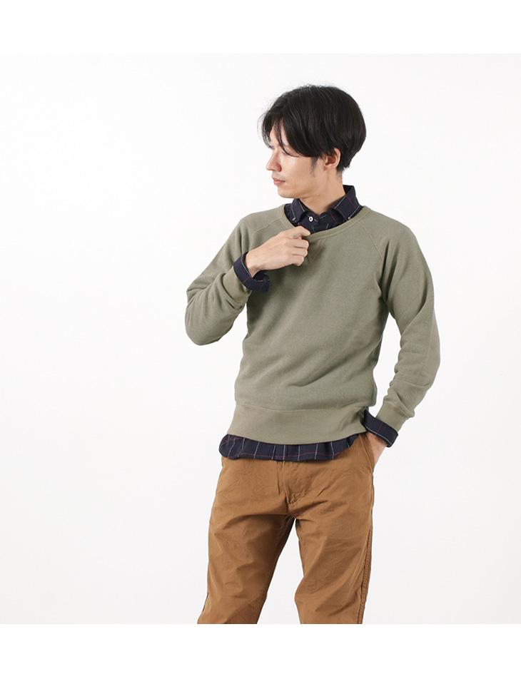 BARNS(バーンズ) 別注 吊り編み 裏毛 プルオーバー スウェット / 無地 / メンズ / 日本製 / L/S PULL PARKA / BR-4932R