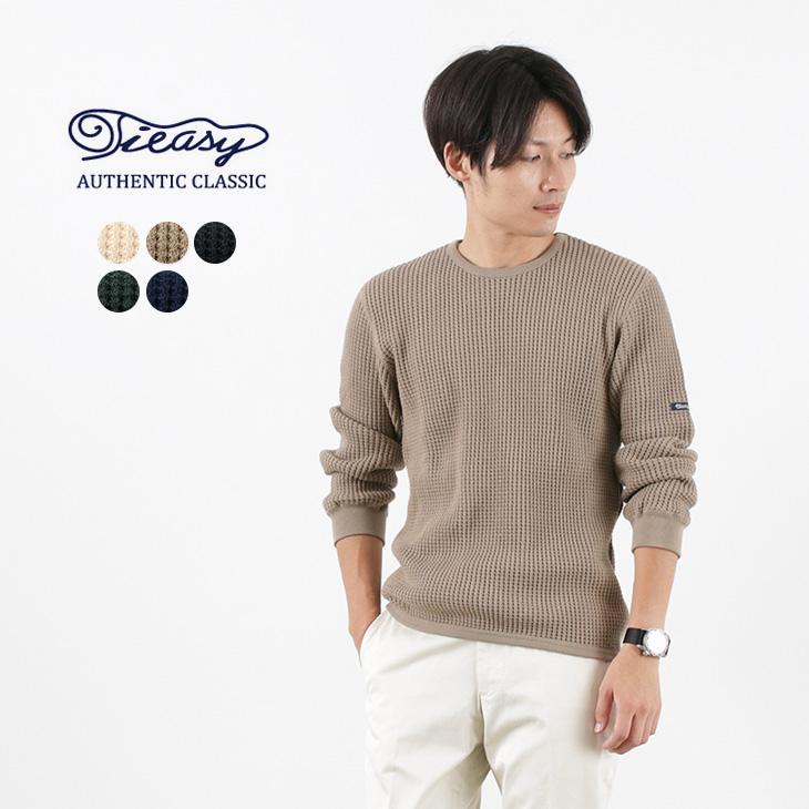 TIEASY(ティージー) スーパー サーマル クルー / メンズ / 長袖 / 無地 / コットン / 日本製 / TE601 / SUPER THERMAL CREW