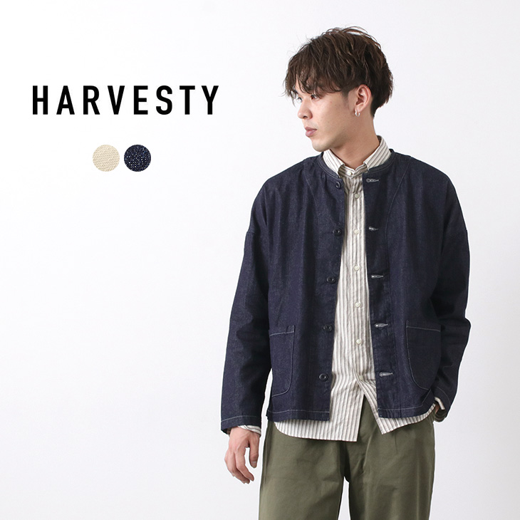 HARVESTY(ハーベスティ) アトリエジャケット / 8oz デニム / メンズ レディース / ユニセックス / ライトアウター / 日本製 / ATELIER JACKET / 8oz DENIM / liou