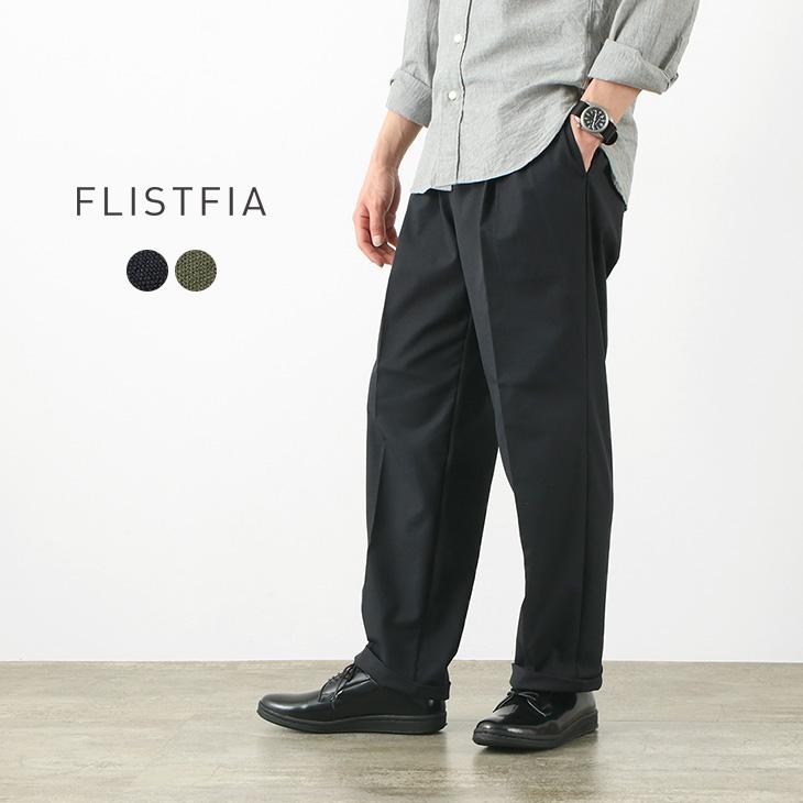 FLISTFIA(フリストフィア) ワイドタックトラウザー / メンズ / イージーパンツ / 日本製 / WR02016 / WIDE TUCK TROUSERS