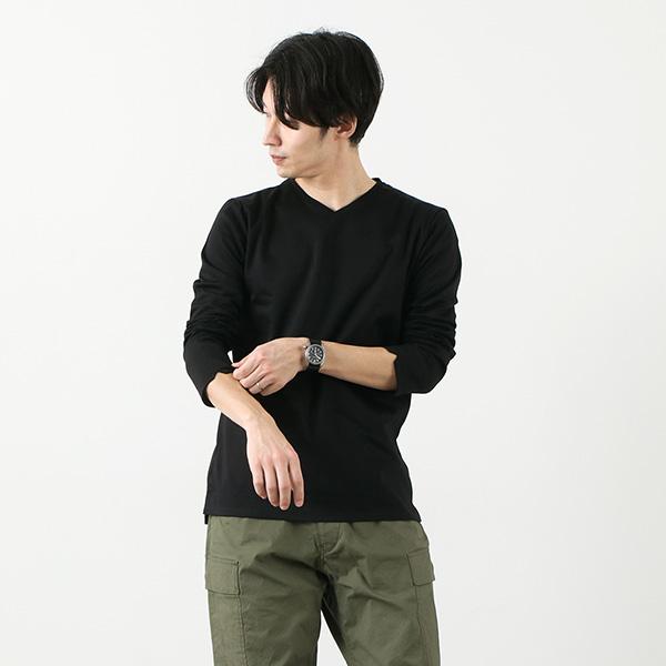 RE MADE IN TOKYO JAPAN(アールイー) 東京メイド Vネック ロングスリーブ ドレスTシャツ / 長袖 / カットソー / フォーマル / 日本製 / 5721A-CT / TOKYO MADE DRESS T-SHIRT (L/S V-NECK)