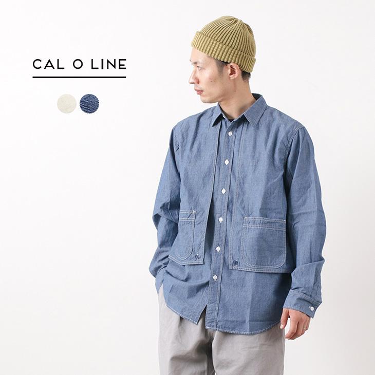 【50%OFF】CAL O LINE(キャルオーライン) シャンブレー ペインターシャツ / メンズ / コットン / 日本製 / CHAMBRAY PAINTER SHIRT【セール】
