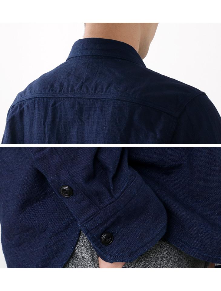 FOB FACTORY(FOBファクトリー) F3452 インディゴ ワークシャツ / メンズ / コットン / 長袖 / 日本製 / ID WORK SHIRT