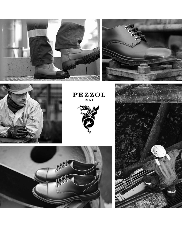 PEZZOL(ペッツォール) スカッド ローカット ダービーシューズ ラバートゥキャップ / ワークシューズ / 革靴 / メンズ / イタリア製 / SCUD LO CUT