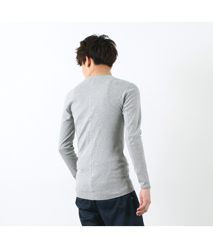 RE MADE IN TOKYO JAPAN(アールイー) カラー別注 パーフェクトインナー ロングスリーブ Uネック / 長袖 無地 Tシャツ / メンズ / 日本製