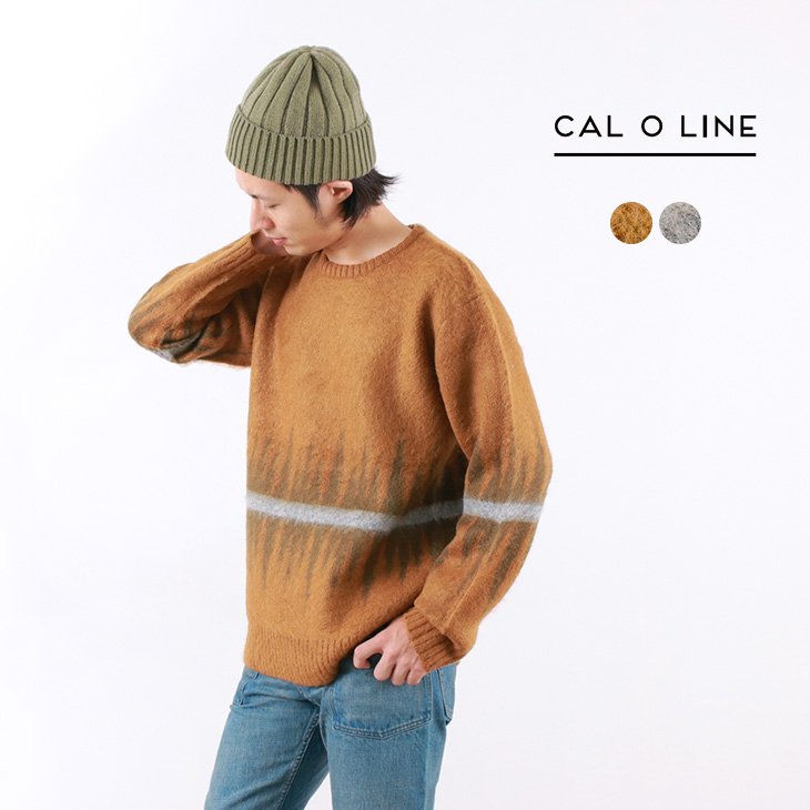 【40%OFF】CAL O LINE(キャルオーライン) ジャガード モヘアセーター / ニット / メンズ / JACQUARD MOHAIR SWEATER【セール】