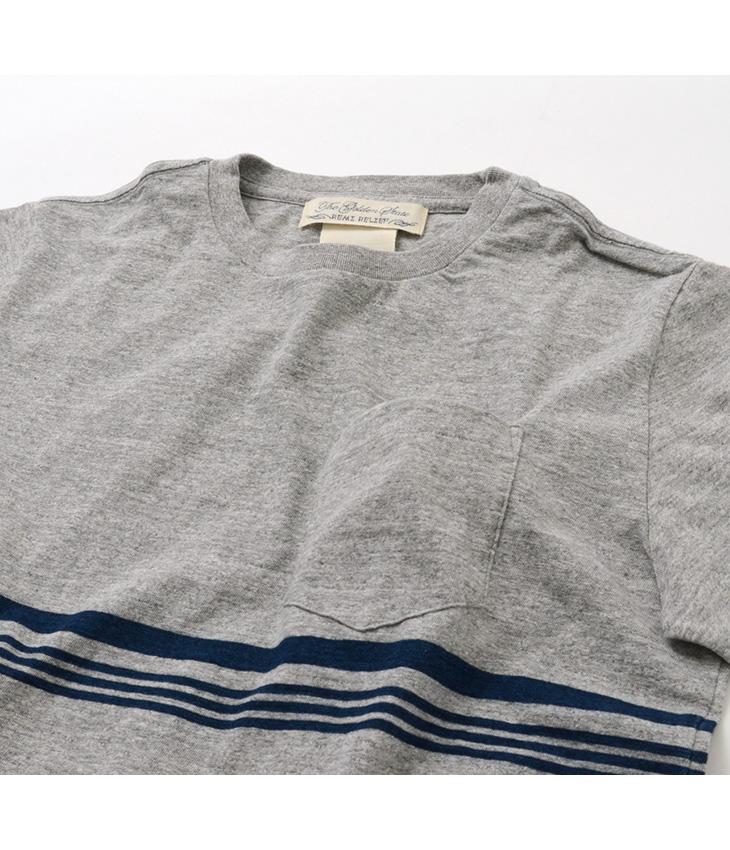 【期間限定!クーポンで10%OFF】REMI RELIEF(レミレリーフ) インディゴ ジャガード 切替ボーダー Tシャツ (胸2本ライン) / 半袖 / メンズ / 日本製