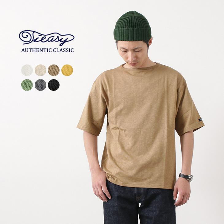 TIEASY(ティージー) HDCS ライト ビッグ ボートネック Tシャツ / メンズ / 半袖 / 無地 / スラブ 天竺 コットン / US オーガニックコットン / 日本製 / HDCS LIGHT BIG BOAT NECK T