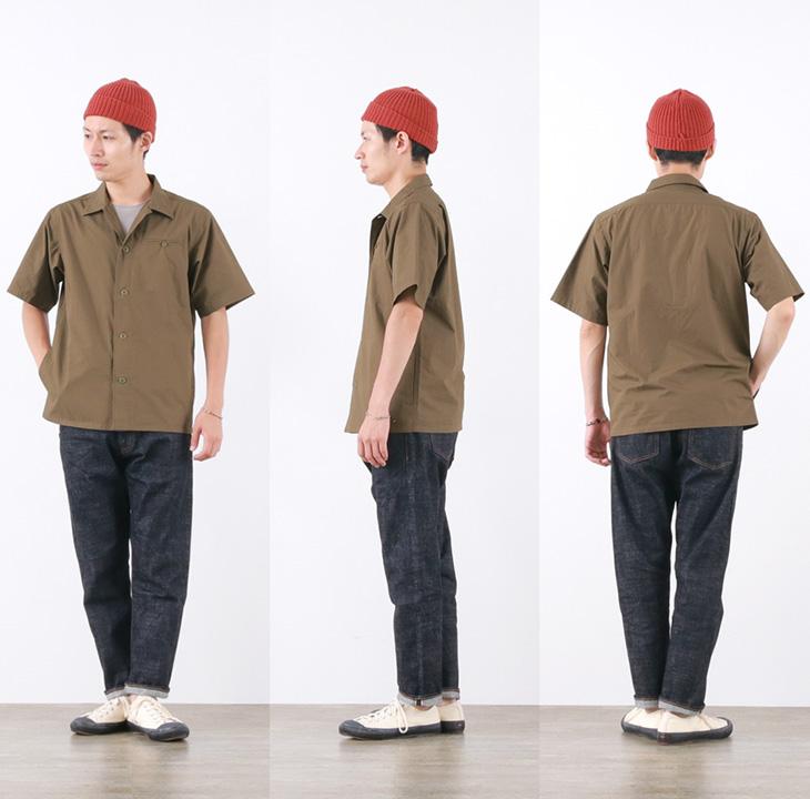 【期間限定!クーポンで10%OFF】ROCOCO(ロココ) H/S カバーオール シャツ / メンズ / 半袖 / コットンウェザー / 日本製