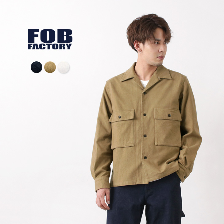 【期間限定!クーポンで10%OFF】FOB FACTORY(FOBファクトリー) F3458 M-42 シャツジャケット / 長袖 / コットン / メンズ / 日本製 / M-42 SHIRT JACK