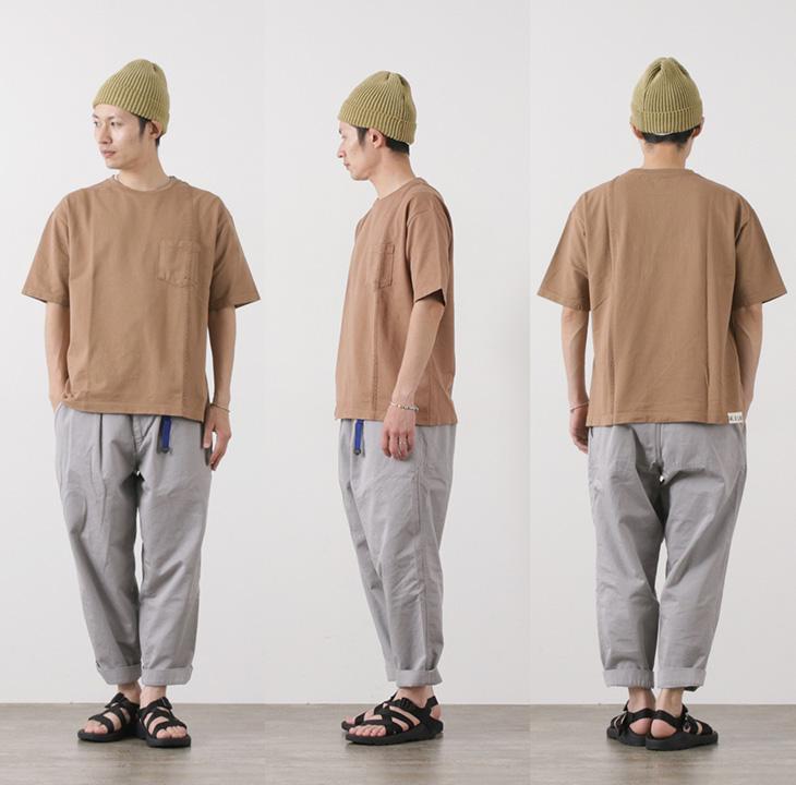 CAL O LINE(キャルオーライン) ライン ケーブル ショートスリーブ Tシャツ / メンズ / コットン / 日本製 / LINE CABLE L/S TEE