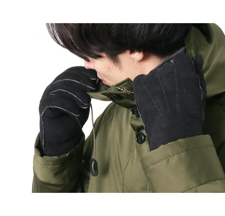 【期間限定!クーポンで10%OFF】【40%OFF】GLENCROFT(グレンクロフト) メンズ ハンドソーン グローブ / 手袋 / ムートン / MENS HANDSEWN GLOVES【セール】