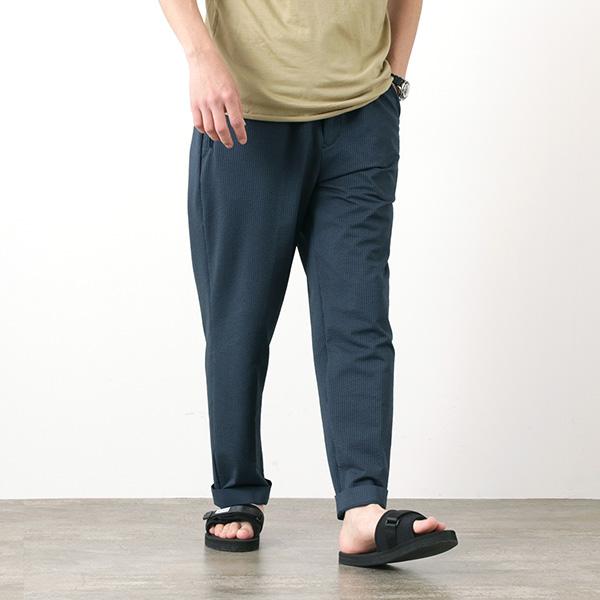 【30%OFF】DESCENTE PAUSE(デサントポーズ) シアサッカー イージーパンツ / メンズ / セットアップ /  DLMPJG81 / SEERSUCKER EASY PANTS【セール】