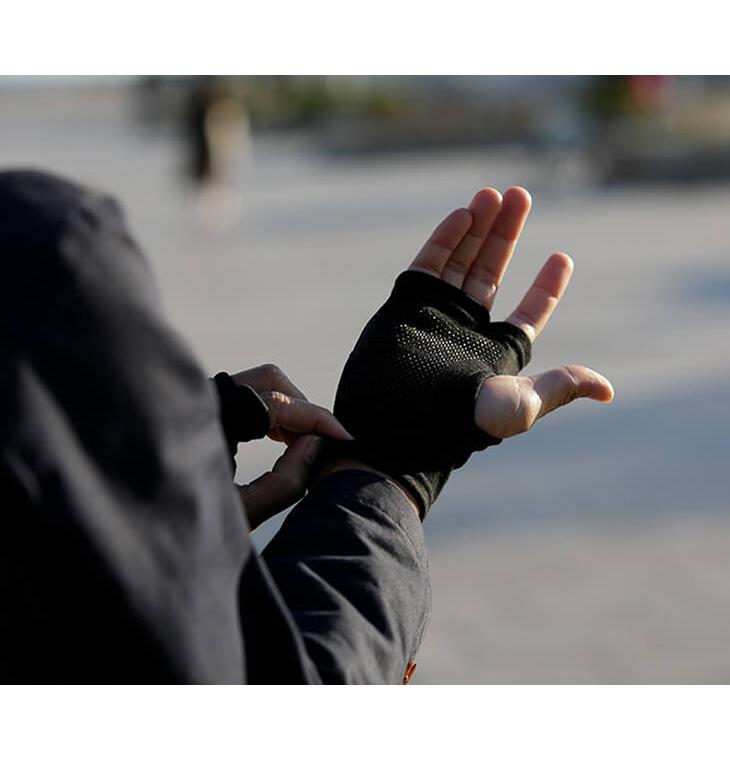 【期間限定!クーポンで10%OFF】HANDSON GRIP(ハンズオングリップ) カーブ / フィンガーレスグローブ / ポーラテック / メリノウール グローブ 手袋 / メンズ / 日本製 / CURVE