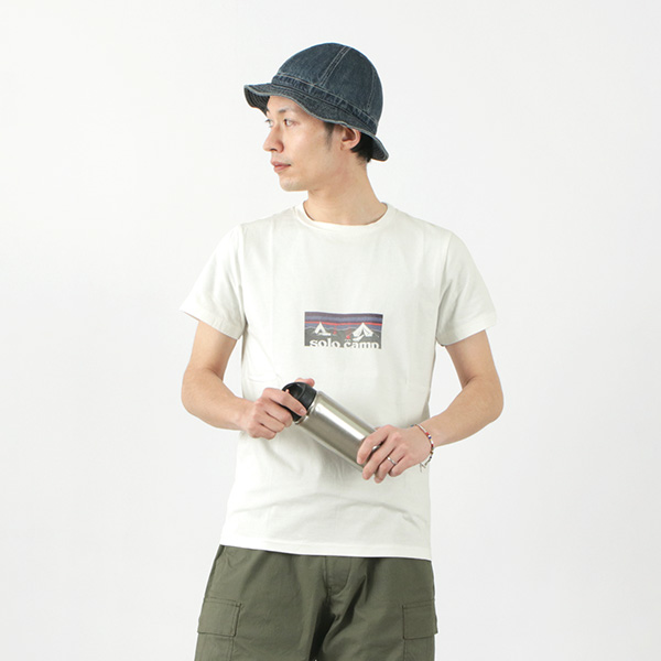REMI RELIEF(レミレリーフ) 別注 LW加工 Tシャツ (SOLO CAMP) / メンズ / 半袖 / プリント / 日本製 / RN21289165