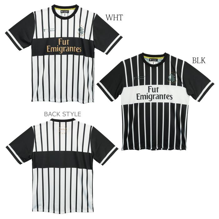 NOSSO SENHOR DO PARAISO/ノッソセニョールドパライーゾ Stripe Fut Emigrantes Game-Shirts