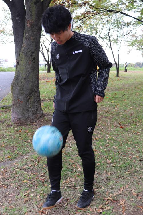 goleador/ゴレアドール ノーカラー ニット コンビネーション トレーニングJKT